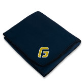 Navy Arctic Fleece Blanket-G