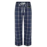 Navy/White Flannel Pajama Pant-Bear Head