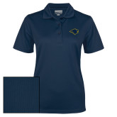 Ladies Navy Dry Mesh Polo-Bear Head