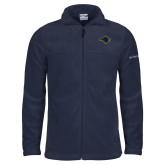 Columbia Full Zip Navy Fleece Jacket-Bear Head
