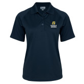 Ladies Navy Textured Saddle Shoulder Polo-College of Business