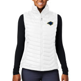 Columbia Lake 22 Ladies White Vest-Bear Head