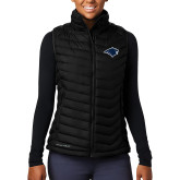 Columbia Lake 22 Ladies Black Vest-Bear Head