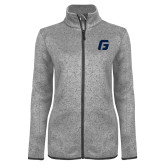 Grey Heather Ladies Fleece Jacket-G