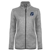 Grey Heather Ladies Fleece Jacket-G