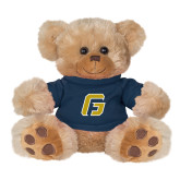 Plush Big Paw 8 1/2 inch Brown Bear w/Navy Shirt-G