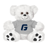 Plush Big Paw 8 1/2 inch White Bear w/Grey Shirt-G