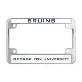 Metal Motorcycle License Plate Frame in Chrome-Bruins