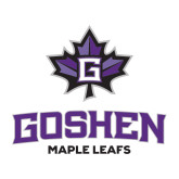 Medium Decal-Goshen Leaf and Wordmark, 8 inches wide
