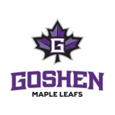 Small Decal-Goshen Leaf and Wordmark, 6 inches wide