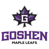 Extra Large Decal-Goshen Leaf and Wordmark, 18 inches wide