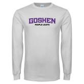 White Long Sleeve T Shirt-Goshen Maple Leafs