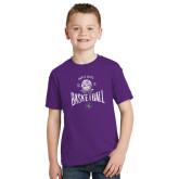 Youth Purple T Shirt-Basketball
