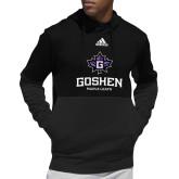 Adidas Black Team Issue Hoodie-Goshen Leaf and Wordmark