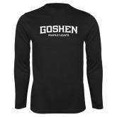 Performance Black Longsleeve Shirt-Goshen Maple Leafs