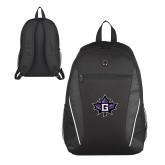 Atlas Black Computer Backpack-Goshen Leaf
