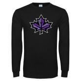 Black Long Sleeve T Shirt-Maple Leaf