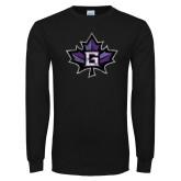 Black Long Sleeve T Shirt-Goshen Maple Leaf Distressed