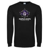 Black Long Sleeve T Shirt-Maple Leaf Athletic Club