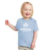 Toddler Light Blue T Shirt-Goshen Leaf and Wordmark