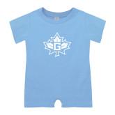 Light Blue Infant Romper-Goshen Leaf