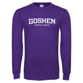 Purple Long Sleeve T Shirt-Goshen Maple Leafs