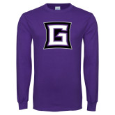 Purple Long Sleeve T Shirt-Goshen G