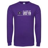 Purple Long Sleeve T Shirt-Custom Class of Design