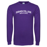 Purple Long Sleeve T Shirt-Goshen College Maple Leafs