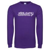 Purple Long Sleeve T Shirt-GoLeafs