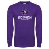 Purple Long Sleeve T Shirt-Goshen Maple Leafs Distressed