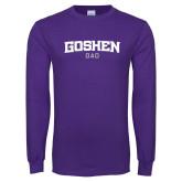 Purple Long Sleeve T Shirt-Dad