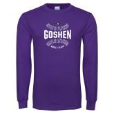 Purple Long Sleeve T Shirt-Maple Leaf Ball