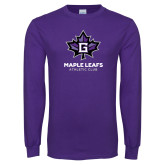 Purple Long Sleeve T Shirt-Maple Leaf Athletic Club