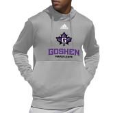 Adidas Grey Team Issue Hoodie-Goshen Leaf and Wordmark