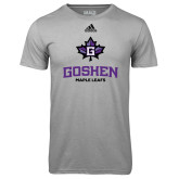 Adidas Climalite Sport Grey Ultimate Performance Tee-Goshen Leaf and Wordmark