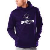 Under Armour Purple Armour Fleece Hoodie-Goshen Leaf and Wordmark