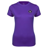 Ladies Syntrel Performance Purple Tee-Goshen Leaf