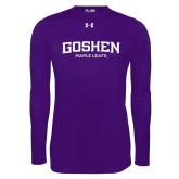 Under Armour Purple Long Sleeve Tech Tee-Goshen Maple Leafs