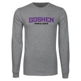 Grey Long Sleeve T Shirt-Goshen Maple Leafs