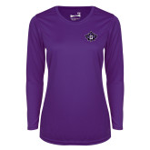 Ladies Syntrel Performance Purple Longsleeve Shirt-Goshen Leaf