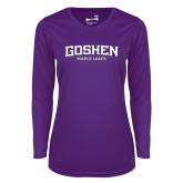 Ladies Syntrel Performance Purple Longsleeve Shirt-Goshen Maple Leafs