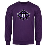 Purple Fleece Crew-Goshen Leaf