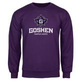 Purple Fleece Crew-Goshen Leaf and Wordmark