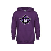 Youth Purple Fleece Hoodie-Goshen Leaf