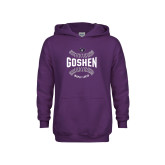 Youth Purple Fleece Hoodie-Maple Leaf Ball
