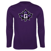 Performance Purple Longsleeve Shirt-Goshen Leaf