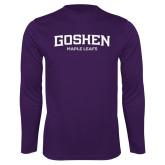 Performance Purple Longsleeve Shirt-Goshen Maple Leafs
