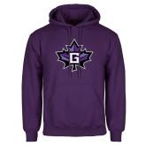 Purple Fleece Hoodie-Goshen Leaf