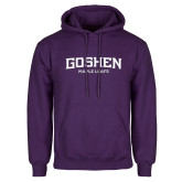 Purple Fleece Hoodie-Goshen Maple Leafs